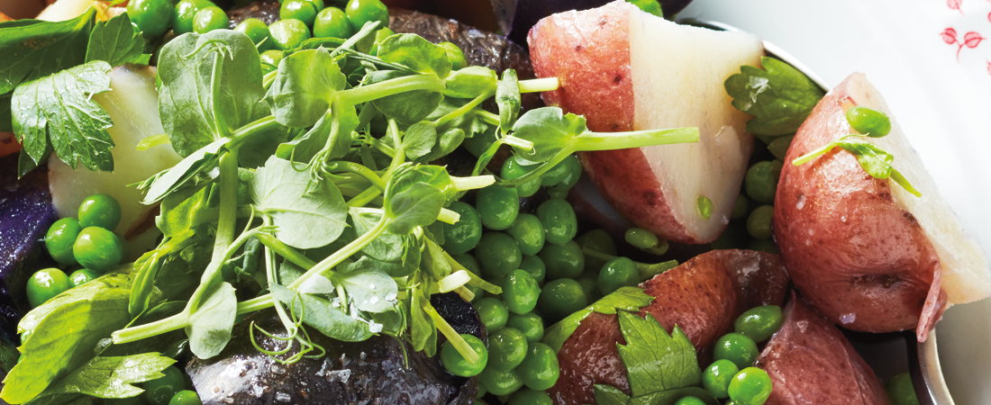 New Potatoes with Peas & Parsley