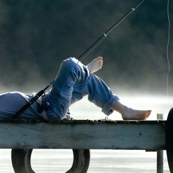 People fishing on waterways including Pigeon Lake, Sturgeon Lake, and Emily Creek in the City of Kawartha Lakes  Ont  2011 Fred Thornhill photo